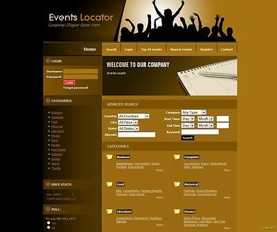 Profitable Events Locator Website Google Adsense