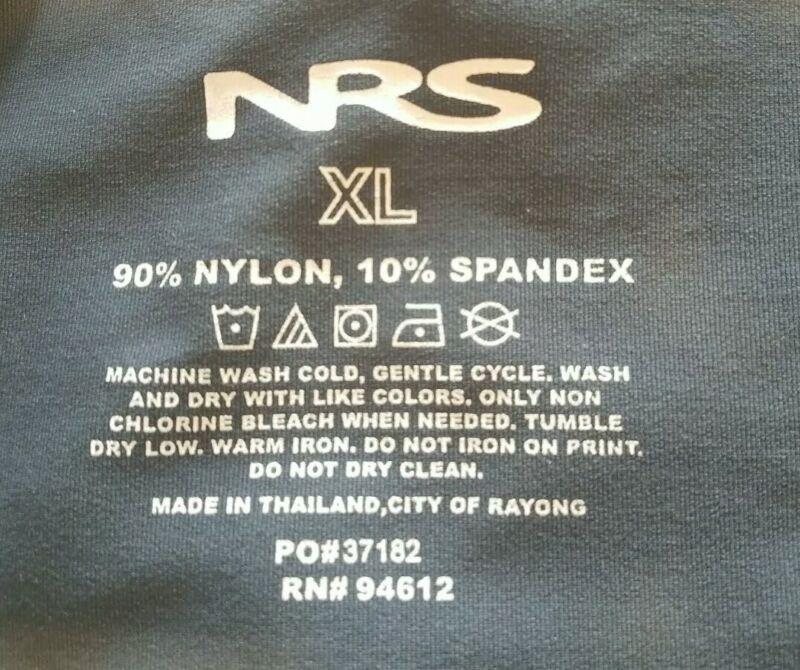 NRS XL Gray White Logo 50+ UPF Sun Protection Crew Neck S/S Shirt