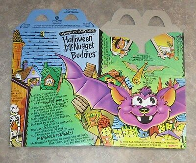 1992 McDonalds Happy Meal McNugget Halloween Box - Bat](Mcdonalds Happy Meal Halloween Toys)