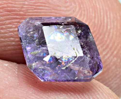 2 Carat Faceted Fluorescent Scapolite Gemstone From Badakhshan Afghanistan