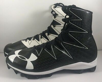 14dd912f9fc Under Armour Highlight RM Mens Football Cleats Black White Size 13