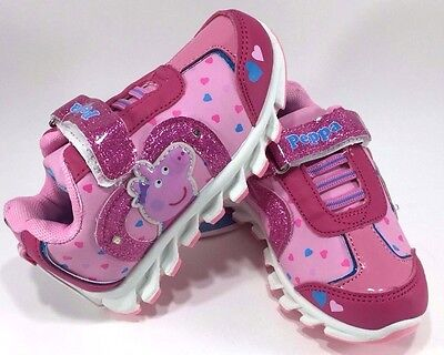 Peppa Pig - Heart Light-Up Sneakers Shoes - Size 5 Toddler - Pink