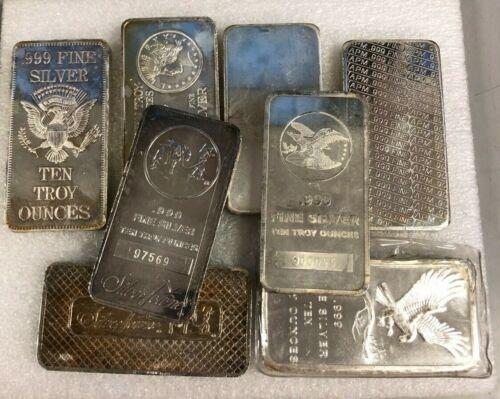10 oz. Silver Secondary Market Random Brand Bar of .999 Fine Silver