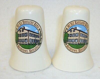 Old Kentucky Home Bardstown Kentucky Souvenir Salt and Pepper Shaker Set