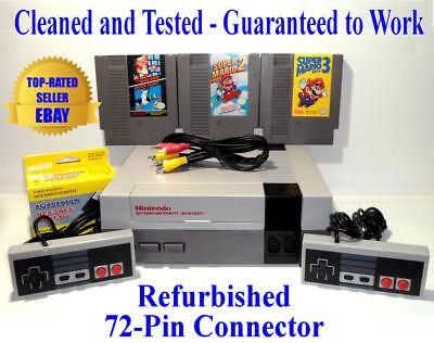 Nintendo NES Console Bundle (BEST PINS) + Super Mario Bros 1 2 & 3 - Guaranteed