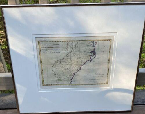 1780 Map Southern United States Rigobert Bonne Virginia Carolina Georgia