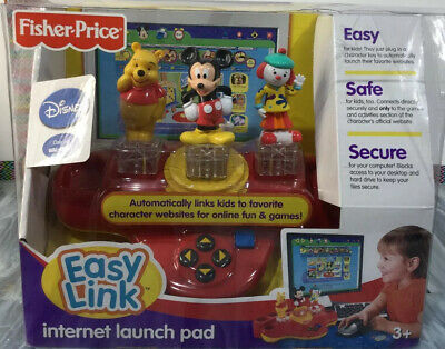 Fisher Price Easy Link Internet Launch Pad Disney Pooh Mickey and Jojo Ages 3+
