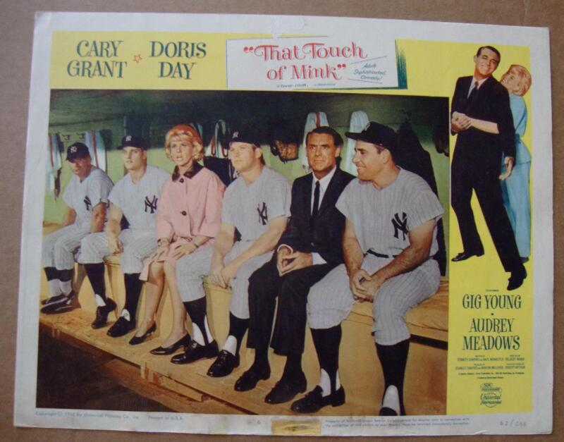 1962 That Touch Of Mink Movie Poster Mickey Mantle Roger Maris Yogi Berra Ny