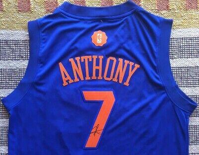 f762ba1af9c1 Carmelo Anthony Signed Autograph 2016  2017 Xmas Christmas Jersey NY Knicks  NBA