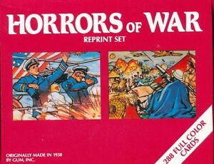 Horrors of World WAR II  288 Card Reprint set Plus RARE Reprint Ad Card, & BONUS