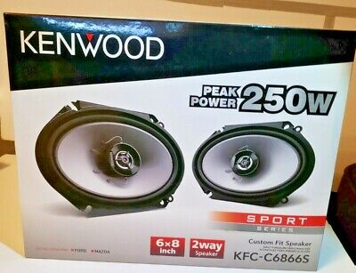 KENWOOD KFC6866S SPORT SPEAKERS, 1 PAIR, SLIM DESIGN , 250 WATT!! for sale  Shipping to Nigeria