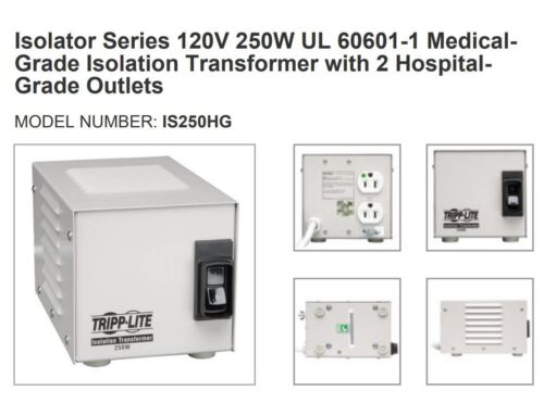 TRIPP LITE IS250HG 250 WATT ISOLATION TRANSFORMER POWER SURGE SPIKE FILTER - NEW