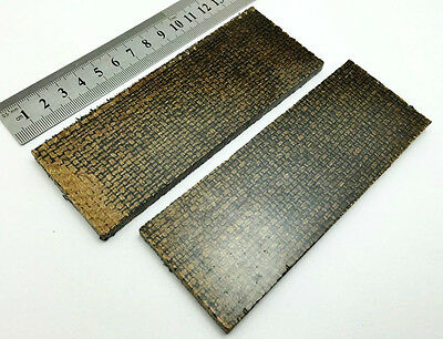 Pair of Jute & Black Canvas Micarta Scales Knife Handle Making Blanks Crafts