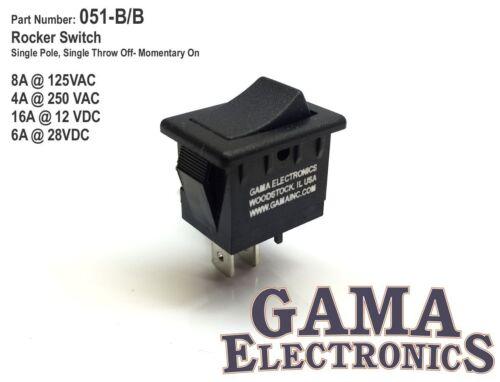 Mini 10 Amp Rocker Switch Single Pole Single Throw SPST Off- Momentary On