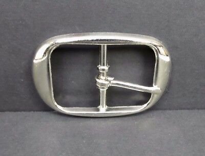 Chrome Plated Plain Belt Buckle Heavy Duty Quality Replacement 1.5