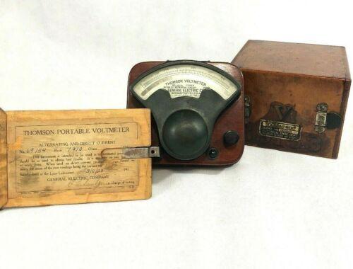 Antique Thomson Voltmeter - w/Box- Rolla Missouri School Of Mines And Metallugy