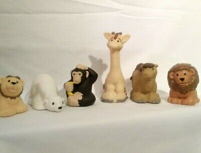 Fisher Price Zoo Talkers Lot of 6 Lion with Cub Giraffe Monkey Camel Polar Bear