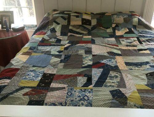 Scrap Quilt Top Fabric abt 1890