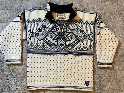 Vintage Dale of Norway Classic Wool Half Zip Sweater US Ski Team Patch Small S Classic Half Zip Sweater