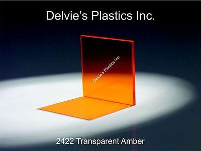 1 Sheet 14 Amber Cell Cast Acrylic Plexiglass 12 X 24