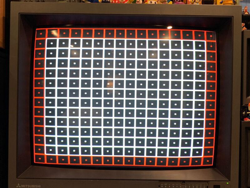 "Mitsubishi XC-3725C MegaView CRT 36"" Pro Video Monitor Gaming 480p RBG"