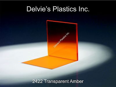 18 2422 Transparent Amber Cell Cast Acrylic Sheet 12 X 24