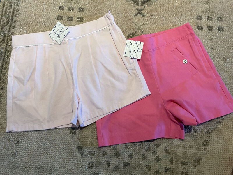 2 Pairs Of Pink Girls Janie And Jack Shorts Size 8💞 NWT