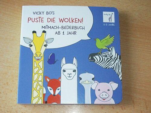 Puste die Wolken, Mitmach-Bilderbuch, Vicky Bo, Pappbilderbuch
