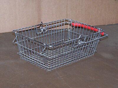Einkaufskorb Metall | verzinkt | Kunststoffgriff | B225*L360*H120 mm