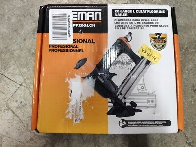 Freeman Pf20glcn Pneumatic 20-gauge L-cleat Flooring Nailer In Stock Open Box