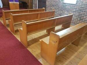 Church Pews Bench Seat Bass Hill Bankstown Area Preview