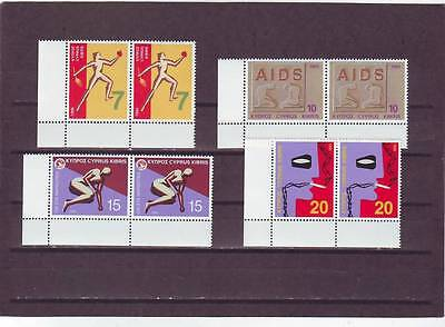 CYPRUS - SG885-888 MNH 1995 HEALTHY LIVING - PAIRS