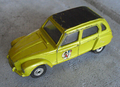 Vintage 1970s Corgi Citroen Dyane Yellow Car
