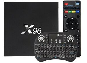 X96 Smart TV android box with wireless keyboard