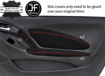 RED STITCH FITS TOYOTA CELICA MK7 99-06 2X SUN VISORS LEATHER COVERS