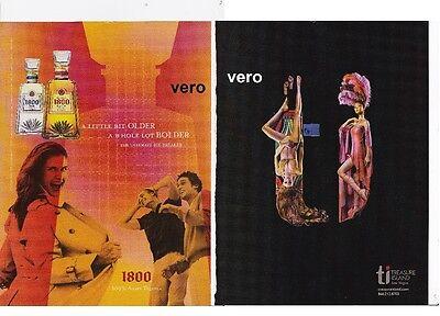2005 magazine ad SKYY 1800 tequila alcohol TREASURE ISLAND Las Vegas print vtg