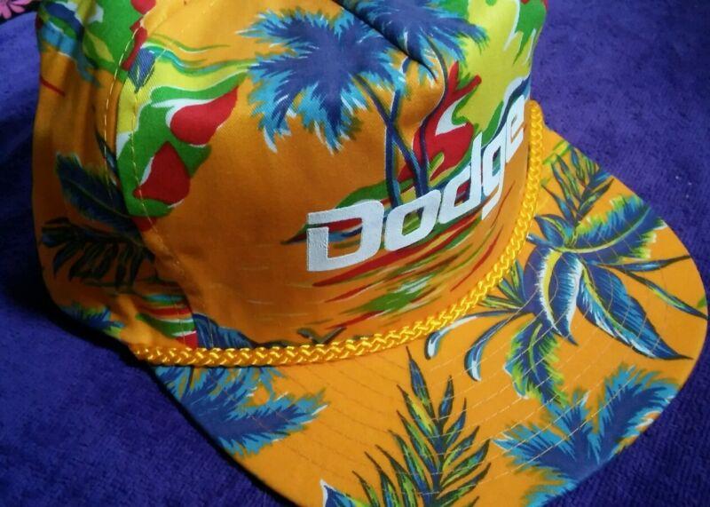 DODGE HAT CAP Yellow Hawaiian ADJUSTABLE NEW