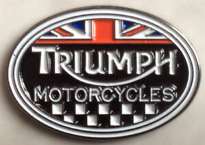 Triumph motorcycle biker badge Speedmaster America Bonneville Trophy Tiger BNIP