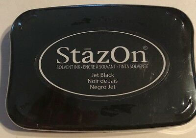 Staz-On Permanent Ink Stamp Pad Jet Black Acid Free, Archival, by Tsukineko