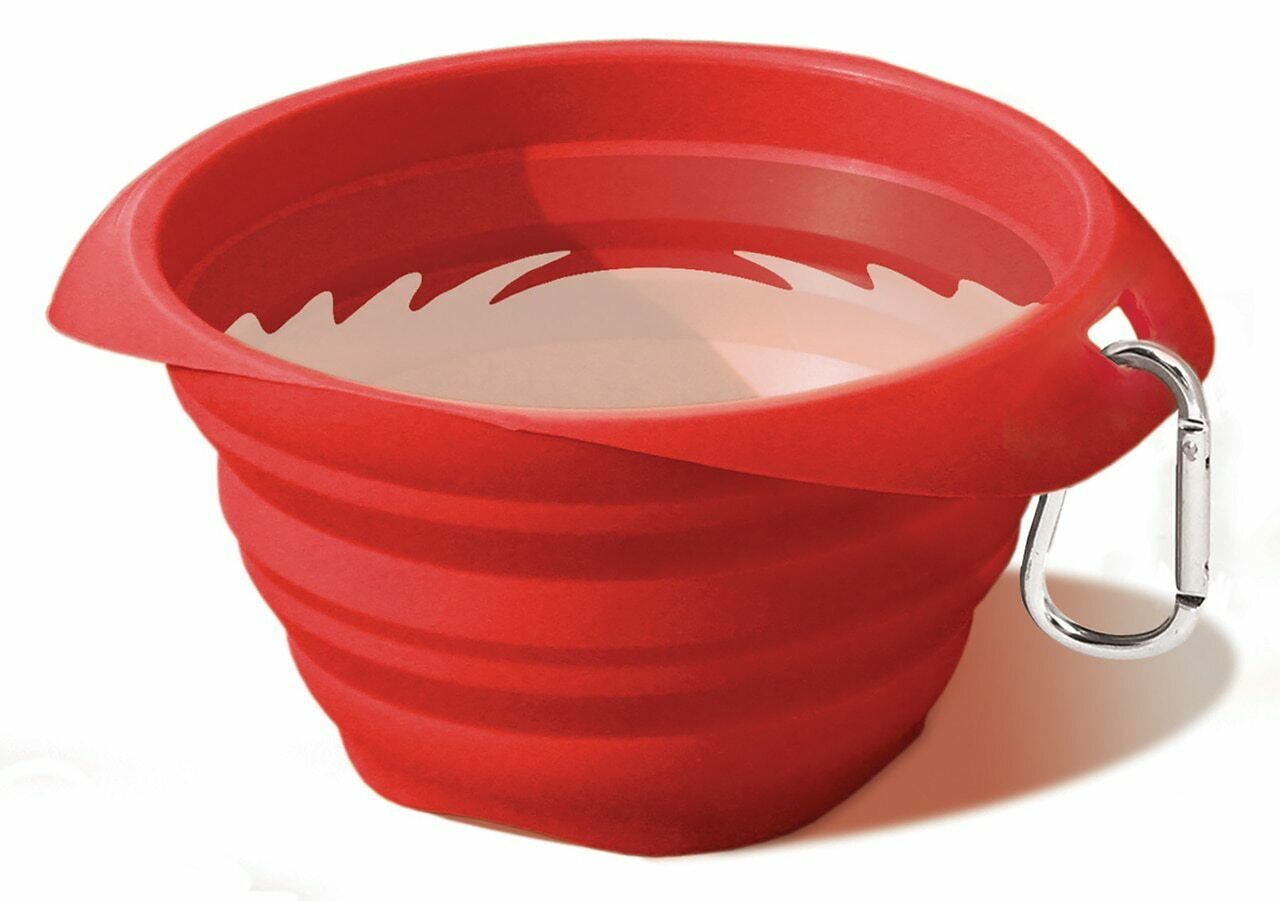 Kurgo Collaps-A-Bowl Travel Pet Food and Water Bowl Red 24oz K01136