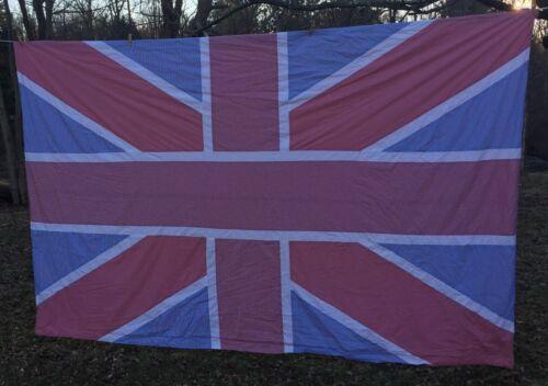 UNION JACK FLAG Brit UK LARGE PANEL STITCHED  Gingham BRITISH Bedspread