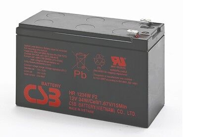 New 2016 CSB 12v 9Ah 34W SLA HR1234W F2 Replacement Battery For APC Back Ups