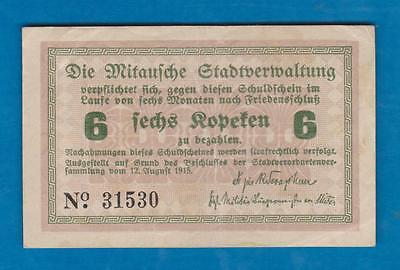 6 Kopeken--Mitau--Stadtverwaltung--zweisprachig--