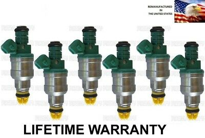 BEST UPGRADE Genuine Bosch 6 Fuel Injectors For BMW 325IX 325i 325is 4 NOZZLE