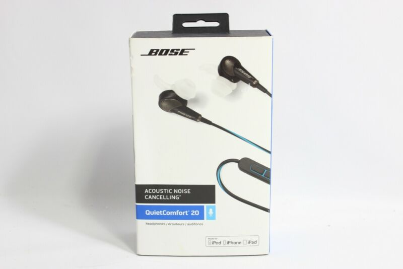 BOSE QC 20 HEADPHONES (IOS) BLACK  - Preowned