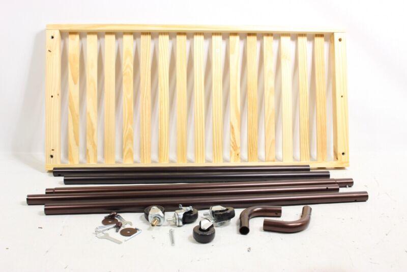 Whitmor Slat Wood Garment Rack - Freestanding Rolling C 6301-5236-BB - Preowned