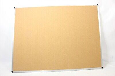 Viz-pro Cork Notice Board 48 X 36 Inches Silver Alumin Fbanb4836c - Preowned