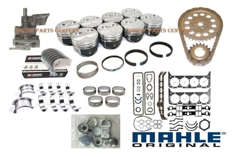 Chevy 350 5.7 MASTER Engine Kit Dish Pistons+Cam+Rings+Timing+bearings 1969-79