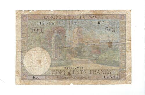 Morocco - 1950,   500 Francs
