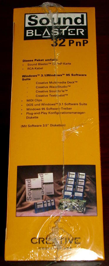 Sound Blaster 32 PnP Creative Labs ISA Soundkarte MIDI RARE NEU!!